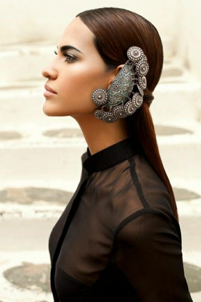 Vogue-Zeitschrift-Indien-Schmuck-indischer-silberschmuck-Haar-Accessoire