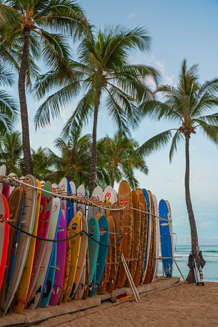 Waikiki Beach-Oahu-Insel-Hawaii-Surfing
