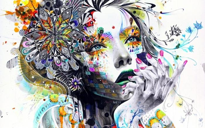 abstrakte-kunst-herrliche-frau