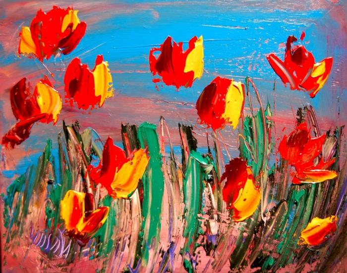 abstrakte-kunst-herrliche-tulpen-in-grellen-farben
