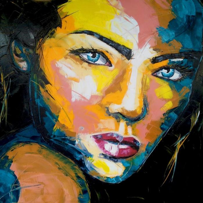 abstrakte-kunst-schönes-gesicht-einer-frau