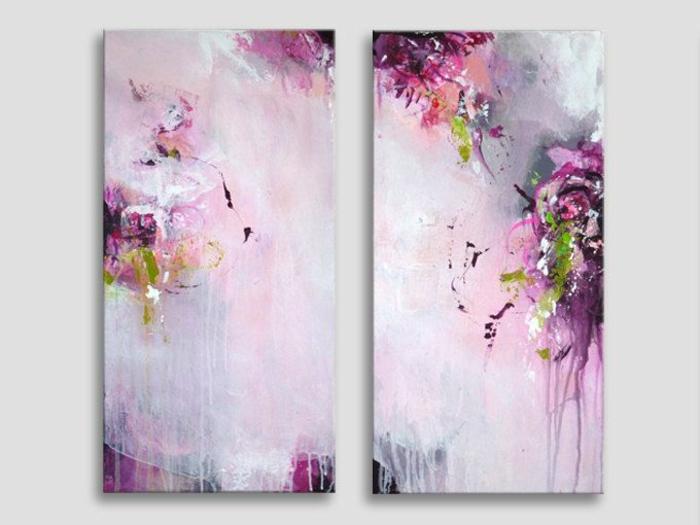 abstrakte-kunst-zwei-rosige-bilder