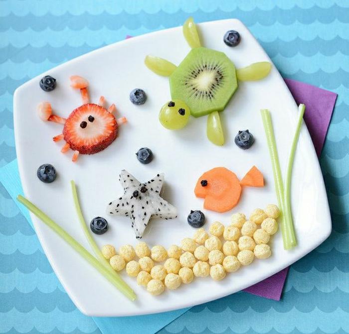 attraktives-Frühstück-Kinder-Meerestiere