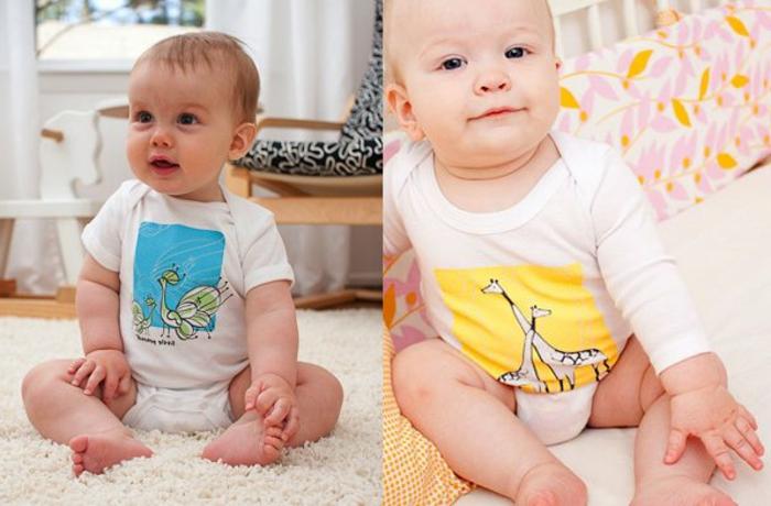 baby-kleidung-zwei-wunderschöne-bilder