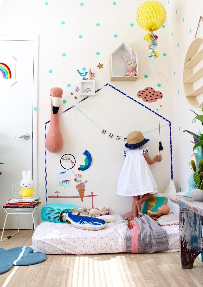 babyzimmer deko mädchen, mädchenzimmer gestalten, wanddekoration für kinderzimmer ideen