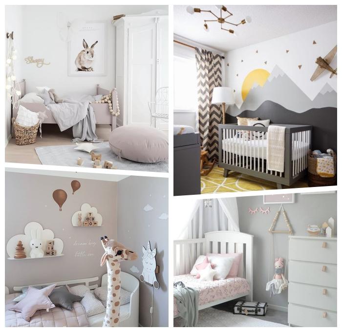kinderzimmerdeko ideen, babyzimmer deko mädchen, zimmergestaltung in pastellfarben
