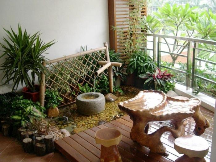balkon-dekoration-schöne-grüne-pflanzen