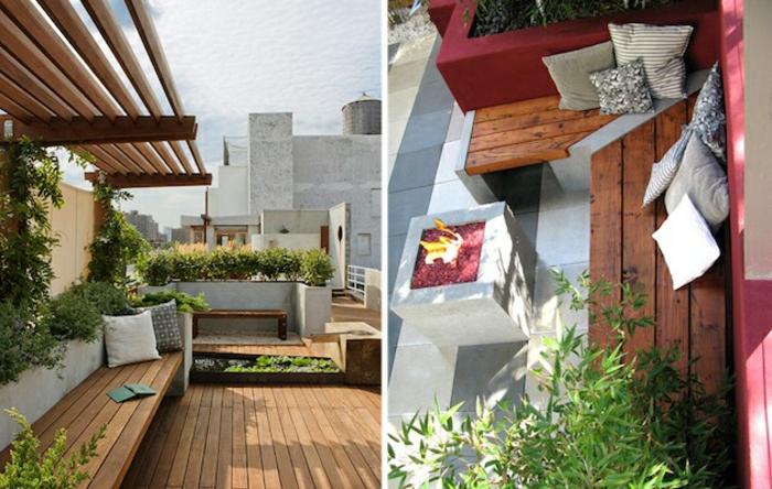 balkon-dekoration-zwei-schöne-bilder