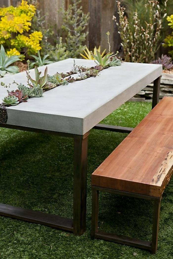Beton Tisch Eine Originelle Einrichtungsidee