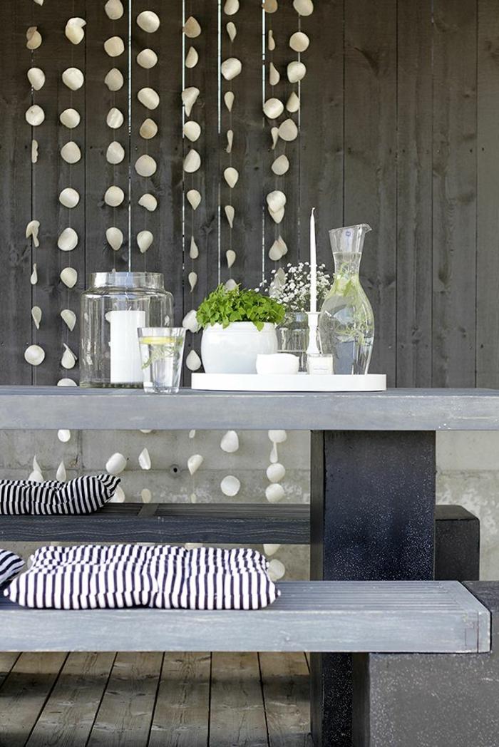 Beton Tisch Elegante Leuchten Im Wohnzimmer