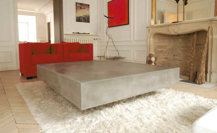 Beton Tisch Kreatives Modell
