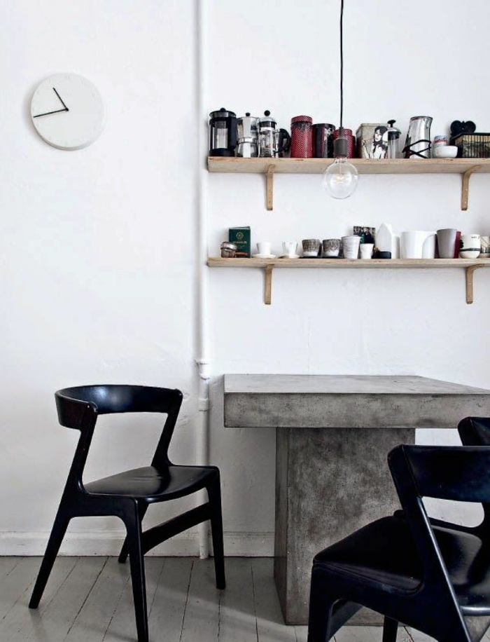 beton tisch eine originelle einrichtungsidee. Black Bedroom Furniture Sets. Home Design Ideas