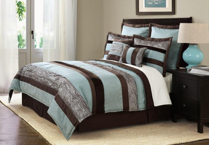 bettw sche in braun schaffen gem tlichkeit. Black Bedroom Furniture Sets. Home Design Ideas