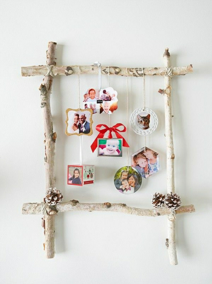 bilderrahmen-selber-machen-Birke-Zapfen-hängende-Fotos