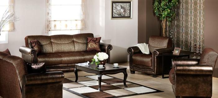 braunes-wohnzimmer-attraktives-design