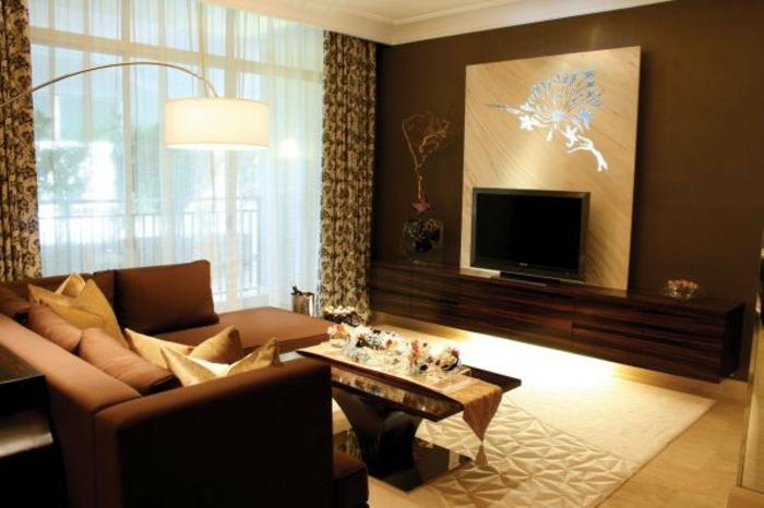 braunes-wohnzimmer-beige-teppich