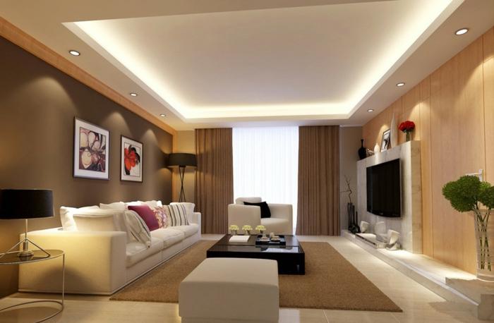 Braunes Wohnzimmer 35 Super Ideen