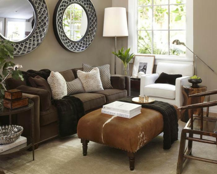 Wohnzimmer gestalten braune möbel  Streich Ideen Braune Mbel - Wohndesign