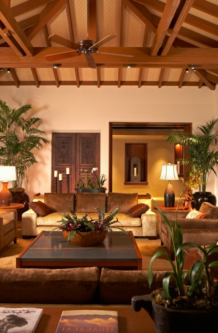 braunes-wohnzimmer-schöne-gemütliche-beleuchtung