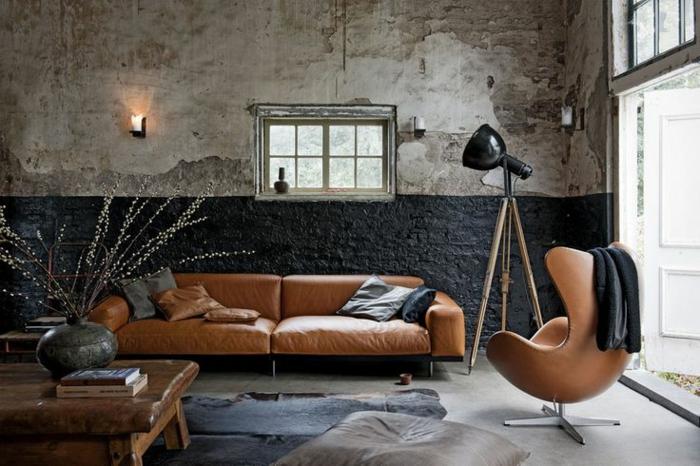 braunes-wohnzimmer-sehr-tolle-möbelstücke