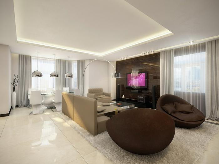 braunes-wohnzimmer-weiße-indirrekte-beleuchtung