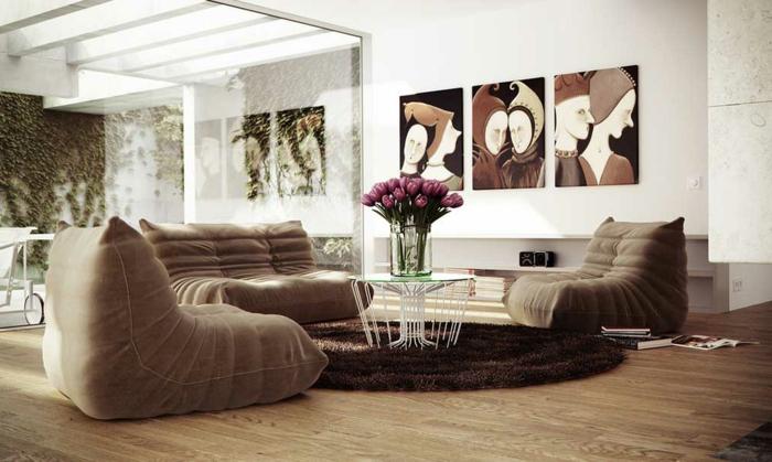 schöne wohnzimmer farbe:schöne braune farbe für wohnzimmer – bilder an der weißen wand