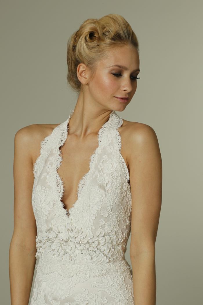 ... sehr schick, kombiniert mit dem erstklassigen Brautkleid mit Spitze