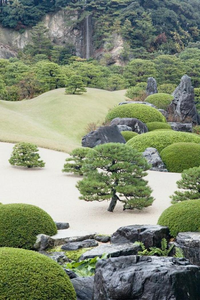 breiter-japanischer-Garten-Zen-Bonsaibäume