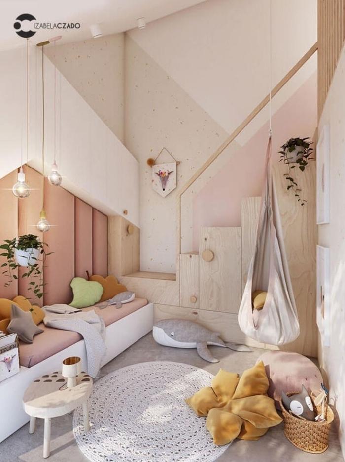 deko für kinderzimmer, zimmergestaltung in pastellfarben, kinderzimmereinrichtung in beige