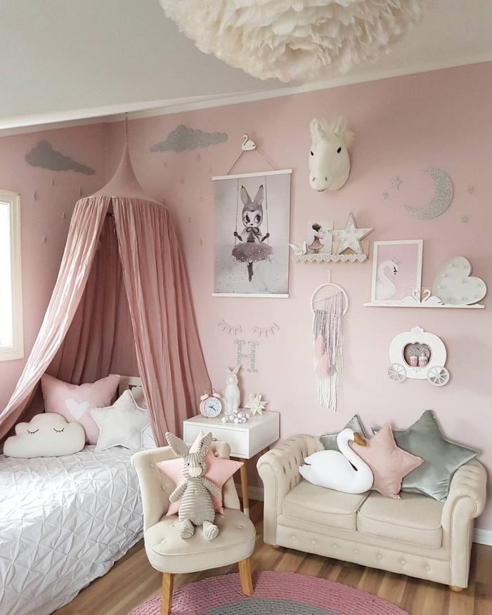 deko fürs zimmer, kinderzimmer einrichten und dekorieren, zimmergestaltung in rosa