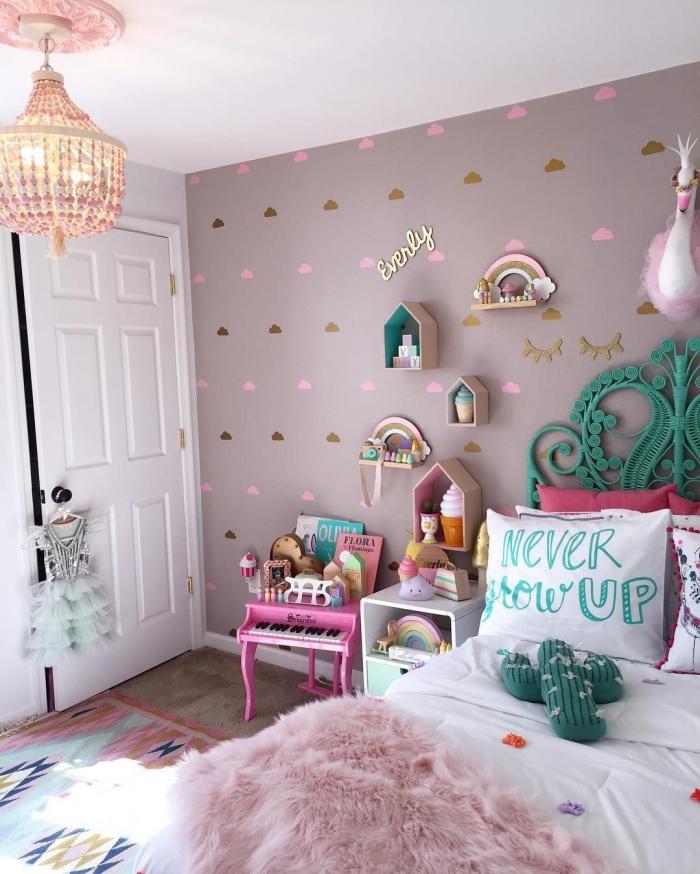 deko fürs zimmer, mädchenzimmer gestalten, kinderzimmer wandgestaltung, jugendzimmer für mädchen