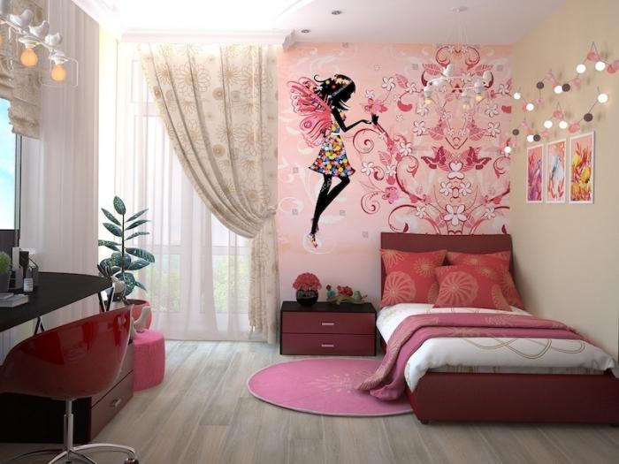 mädchenzimmerdeko ideen, deko fürs zimmer, mädchenzimmer geastalten, großer wandsticker