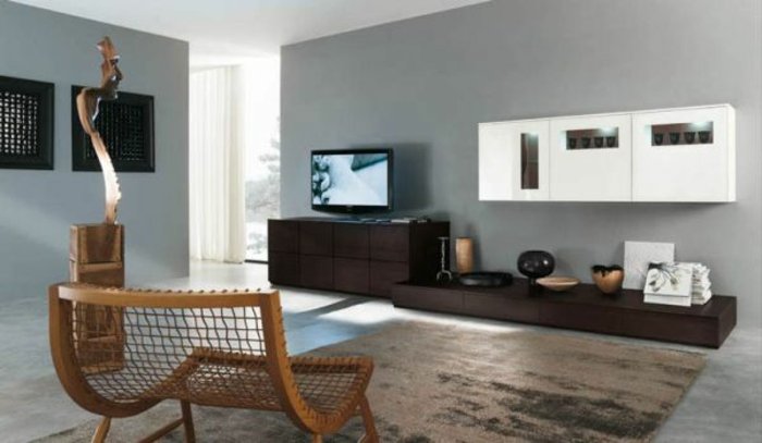 dekoration-im-wohnzimmer-interessante-moderne-wandgestaltung