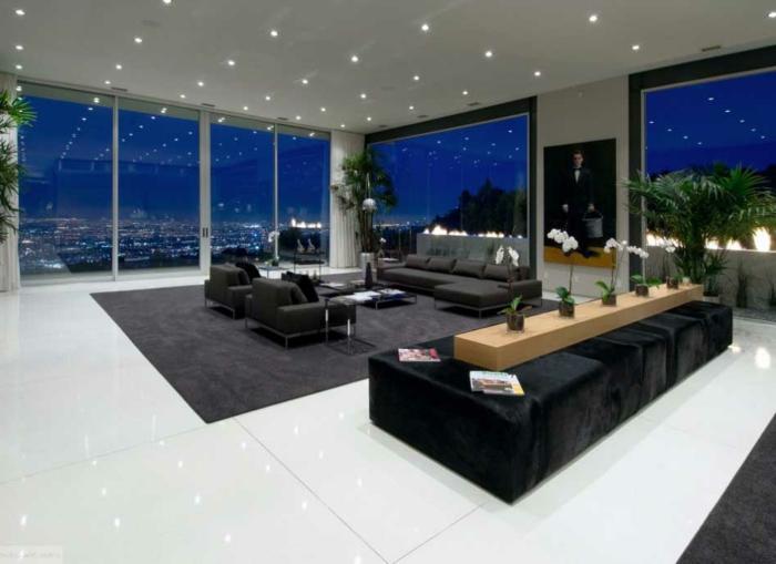 dekoration-im-wohnzimmer-moderne-deckenleuchten