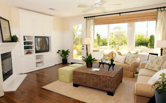 dekoration-im-wohnzimmer-moderne-jalousien