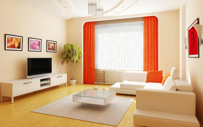 65 vorschläge für dekoration im wohnzimmer! - archzine.net - Wohnzimmer Deko Orange