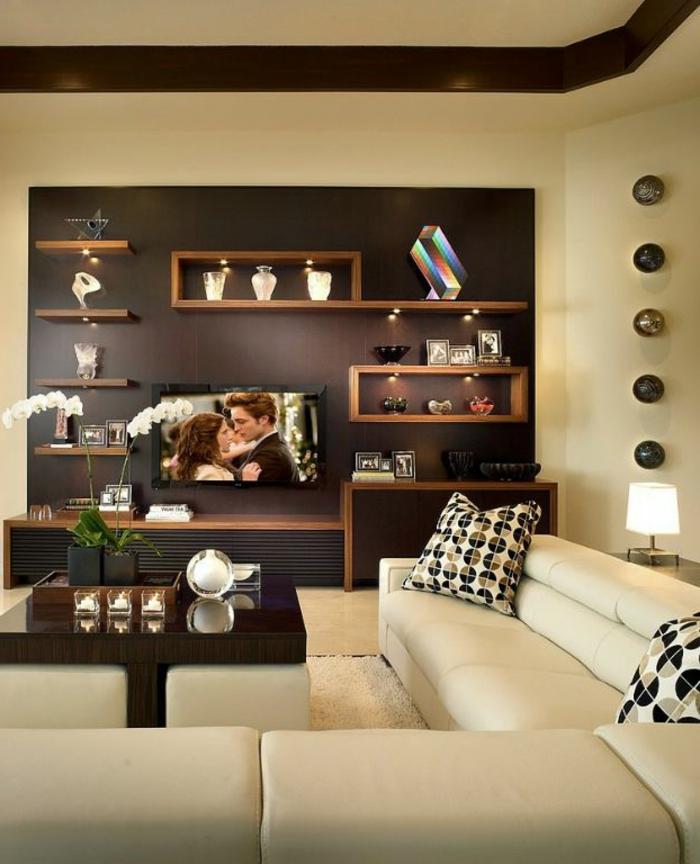 dekoration-im-wohnzimmer-schöne-regale