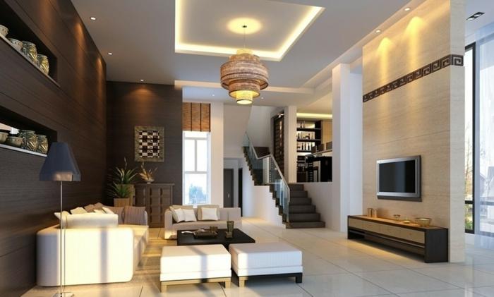 dekoration-im-wohnzimmer-super-moderne-deckenleuchten