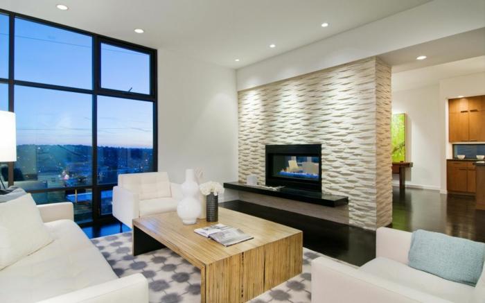 dekoration-im-wohnzimmer-weiße-wände-und-eine-glaswand