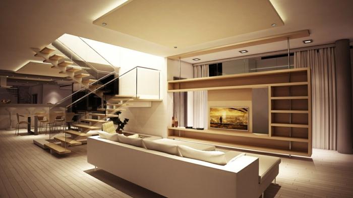 dekoration-im-wohnzimmer-wunderschöne-beleuchtung