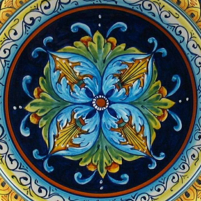 feine-italienische-Keramik-Töpferei-Keramikplatte