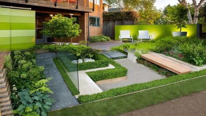 gartengestaltung sichtschutz beispiele garten ideen außenbereich modern gestalen hintergarten