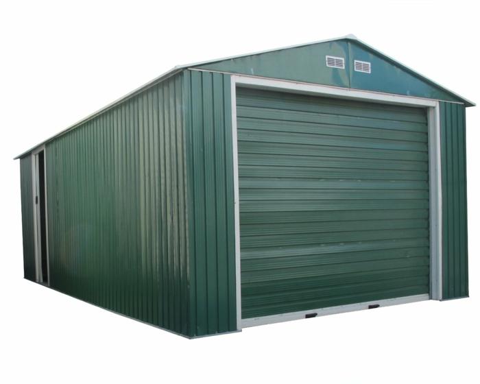 gartenhaus-aus-metall-grünes-modell