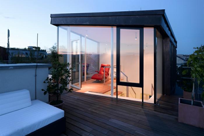 44 tolle bilder von glaswand terrasse for Aurora maison de cuisine dallas