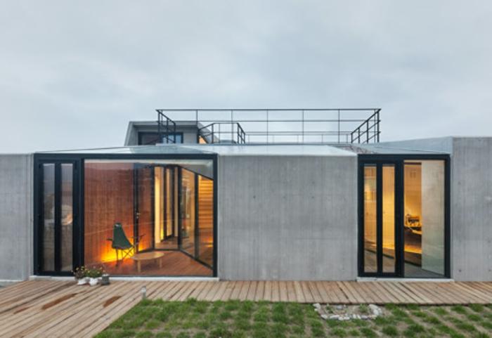 44 tolle bilder von glaswand terrasse for Modernes haus terrasse