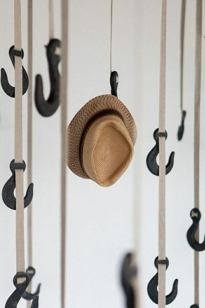 hängende-Haken-Kleider-Strohhut