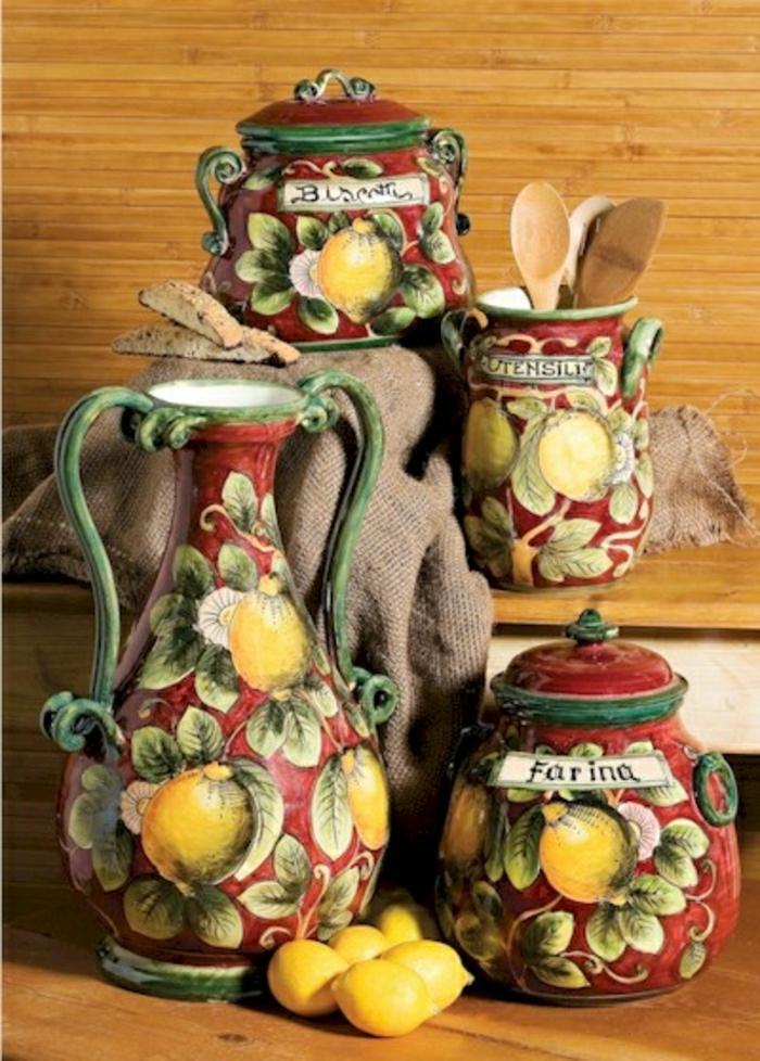 handgemalte-italienische-Töpferei-Zitronen-Muster-geschirr-landhausstil