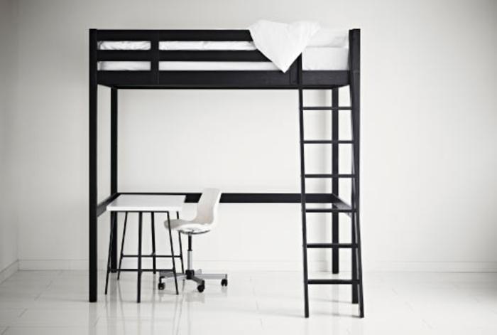 Lampe Ikea Chargeur Sans Fil ~ modernes hochbett für erwachsene  weiße wand dahinter