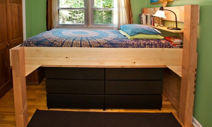 hochbett f r erwachsene 30 super ideen. Black Bedroom Furniture Sets. Home Design Ideas