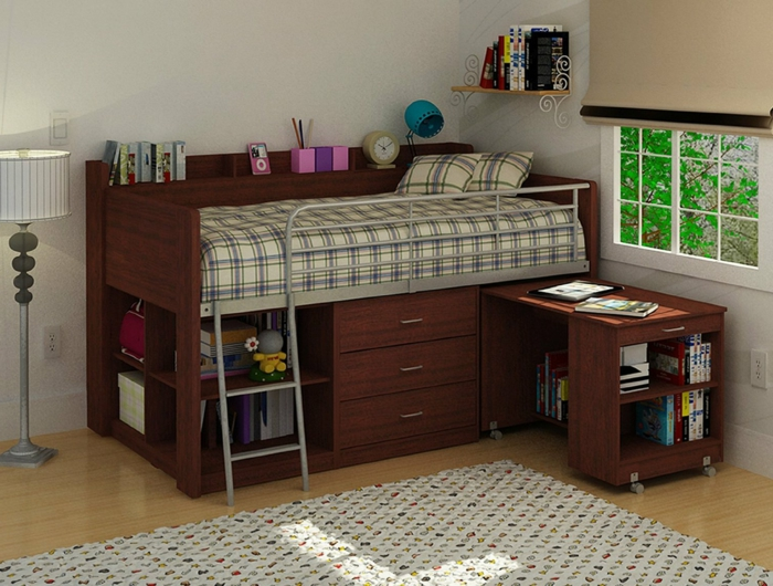 hochbett f r erwachsene 30 super ideen. Black Bedroom Furniture Sets. Home Design Ideas